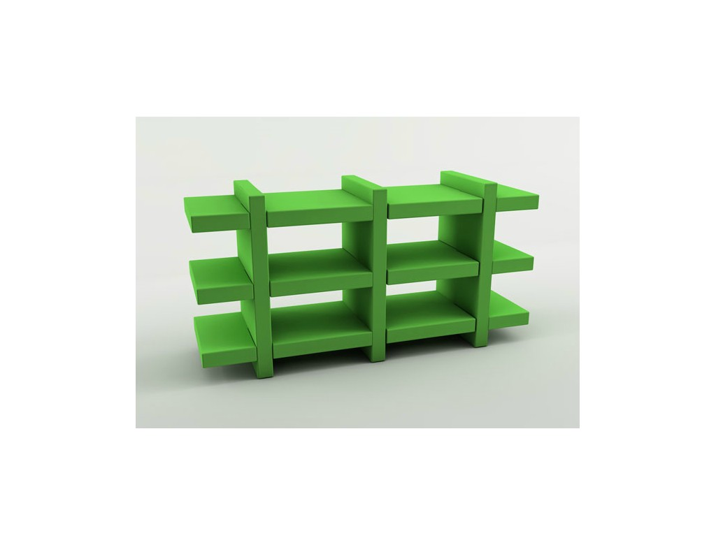 Booky Medium Slide Italia Plastic Moulded Furniture Rijo Design