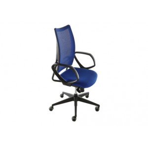 Flash mesh-net backrest with oval fixed arms chair | Diemme | Office Waiting