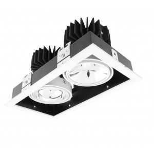Gyro Cube x 2 | LED Downlight | Retail LED Lighting