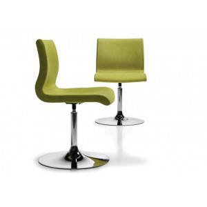 Penelope Chrome Base Swivel Chair | Diemme | Waiting