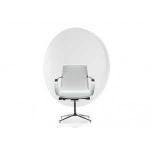 Moon Visitor Swivel Armchair | Diemme | Office Waiting