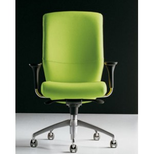 Lord high backrest chair with adjustable arms | Diemme | Office Waiting