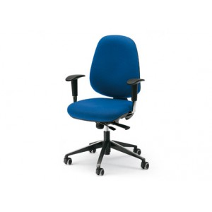 Dublino Low Backrest, synchronised mechanism and translator chair with adjustable arms | Diemme | Office Waiting
